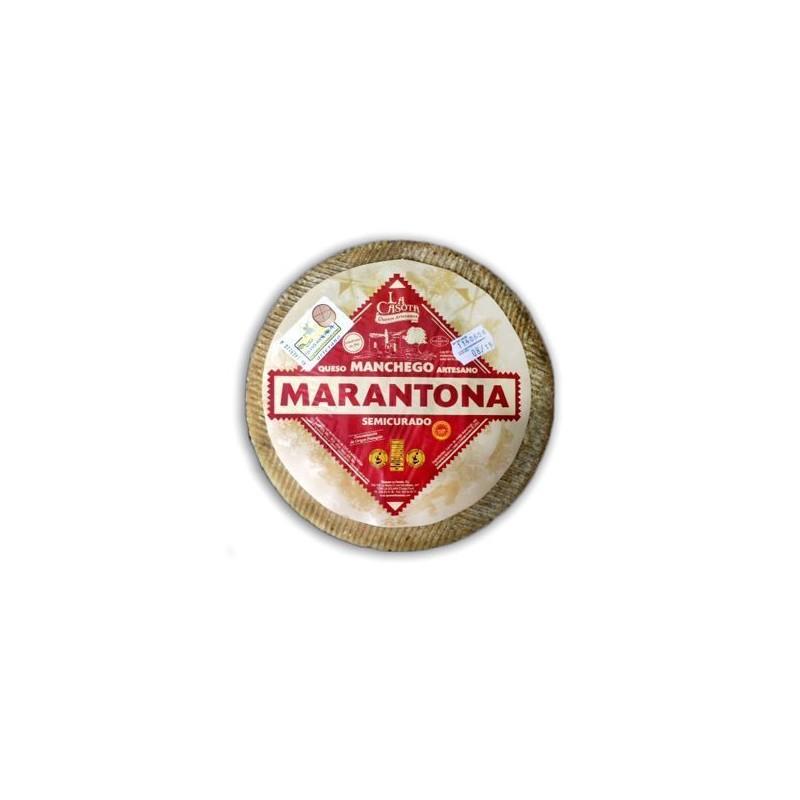 QUESO MANCHEGO MARANTONA SEMICURADO Peso 200 gr